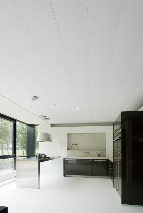 Aluminium plafonds voor badkamer, keuken en woonkamer